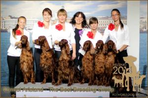 World Dog Show - Helsinki 2014, Arisland - The Best Breeding Group at World Dog Show in Helsinki